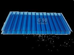 Chapa de Policarbonato Alveolar Azul 2,10 x 6,00 mts 4mm