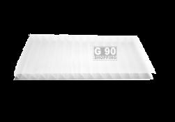 Chapa de Policarbonato Alveolar Branca Leitosa 2,10 x 6,00 mts 6mm