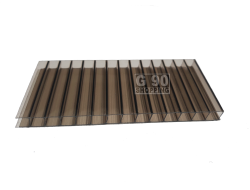 Chapa de Policarbonato Alveolar Bronze 1,05 x 6,00 mts 4mm
