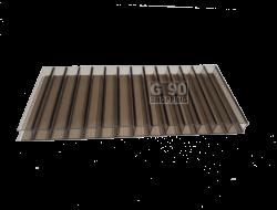 Chapa de Policarbonato Alveolar Bronze 1,05 x 6,00 mts 6mm