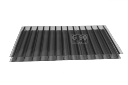 Chapa de Policarbonato Alveolar Fumê 1,05 x 6,00 mts  6mm