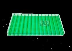 Chapa de Policarbonato Alveolar Verde 1,05 x 6,00 mts 4 mm